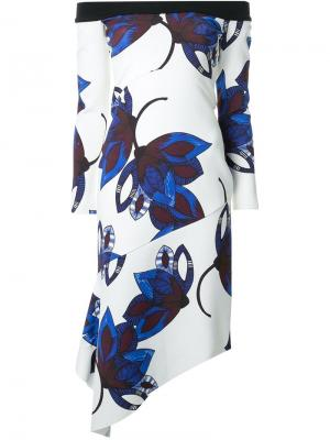 Платье с открытыми плечами Eastern Eye Manning Cartell. Цвет: белый