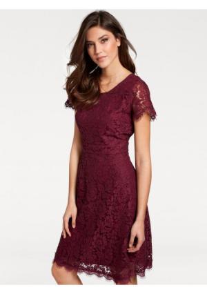 Моделирующее платье ASHLEY BROOKE by Heine. Цвет: бордовый