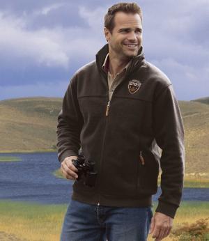Куртка из Флиса AFM. Цвет: коричневыи