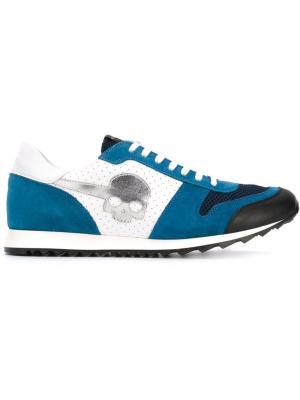 Кроссовки на шнуровке Hydrogen. Цвет: синий