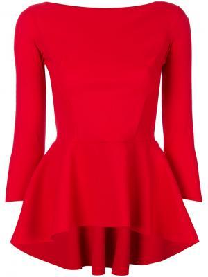 Блузка с баской Chiara Boni La Petite Robe. Цвет: красный