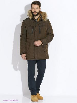 Куртка CONVER. Цвет: темно-коричневый
