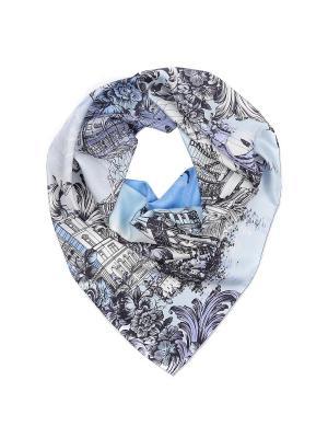 Платок Fabretti. Цвет: серо-голубой