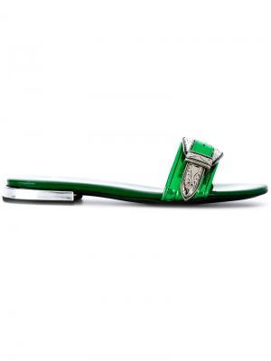 Декорированные сандалии Toga Pulla. Цвет: зелёный