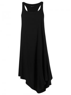 Асимметричное платье Uma | Raquel Davidowicz. Цвет: чёрный
