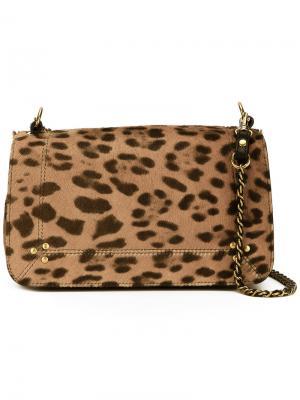 Bobi leopard print bag Jérôme Dreyfuss. Цвет: коричневый
