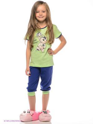 Пижама Vienetta Secret. Цвет: светло-зеленый, темно-синий