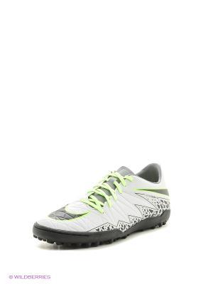 Шиповки HYPERVENOM PHELON II TF Nike. Цвет: салатовый, черный, серый