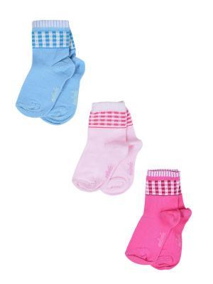Носки Детские,комплект 3шт Malerba. Цвет: голубой, розовый