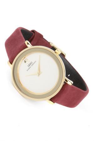 Часы на ремне IBSO. Цвет: золотистый, бордовый