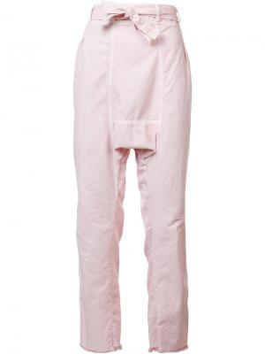 Брюки прямого кроя NSF. Цвет: розовый и фиолетовый