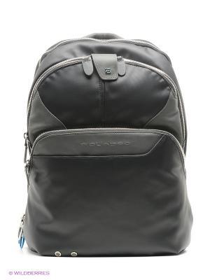 Рюкзак PIQUADRO. Цвет: черный, серебристый