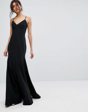 C/meo Collective Длинное платье Right Now. Цвет: черный