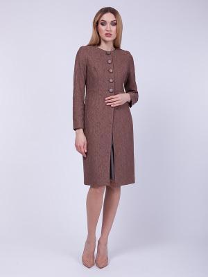 Пальто VLАDI Collection. Цвет: бежевый