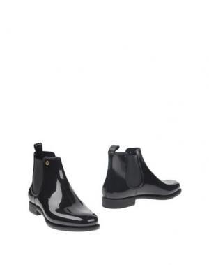 Полусапоги и высокие ботинки MÈNGHI. Цвет: черный