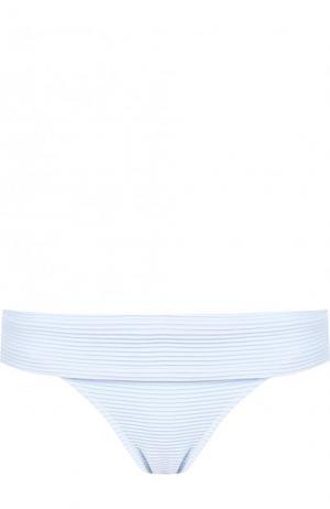Однотонные плавки-бикини Heidi Klein. Цвет: голубой