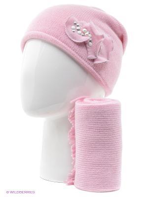 Шапка, шарф Vittorio Richi. Цвет: коралловый, белый