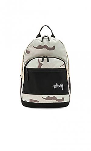 Stock desert camo backpack Stussy. Цвет: серовато-зеленый