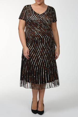 Платье Lia Mara. Цвет: коричневый