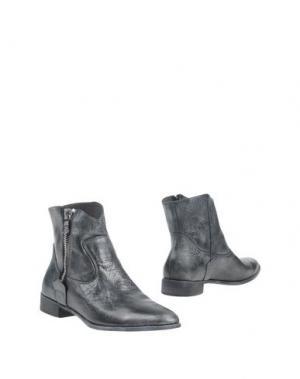 Полусапоги и высокие ботинки CRIME London. Цвет: стальной серый
