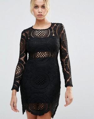 Parisian Кружевное платье. Цвет: черный