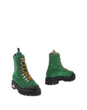 Полусапоги и высокие ботинки OFF WHITE c/o VIRGIL ABLOH. Цвет: зеленый