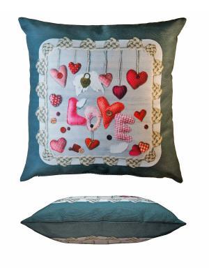 Подушка Gift'n'Home. Цвет: серый, красный, розовый, белый
