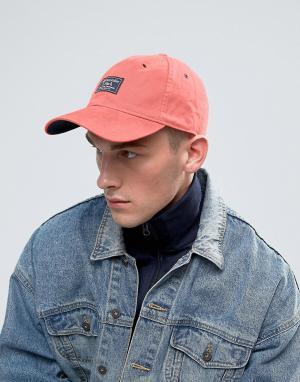 Abercrombie & Fitch Розовая кепка из саржи с логотипом-нашивкой. Цвет: розовый