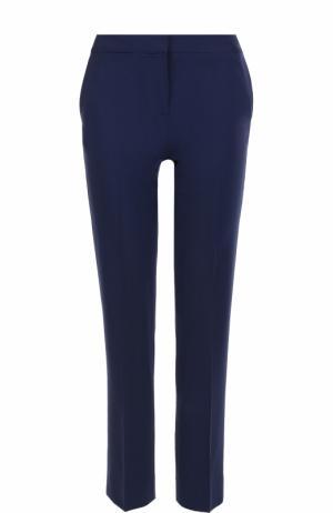 Укороченные брюки прямого кроя со стрелками Diane Von Furstenberg. Цвет: темно-синий