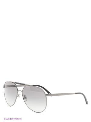 Очки солнцезащитные Versace. Цвет: темно-серый, серебристый