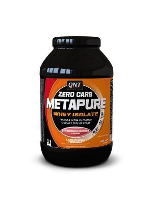 Изолят METAPURE ZERO CARB (клубника/банан), 1 кг QNT. Цвет: черный, белый, оранжевый