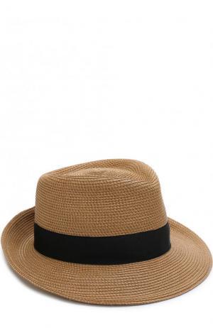Шляпа с лентой Eric Javits. Цвет: темно-бежевый