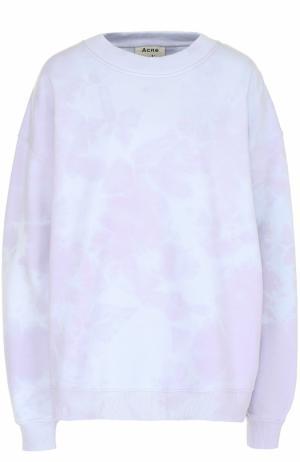 Свитшот свободного кроя с круглым вырезом и спущенным рукавом Acne Studios. Цвет: лиловый
