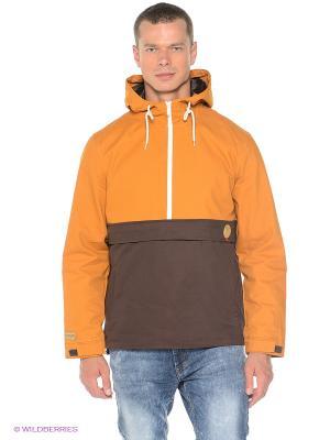 Куртка Cotton True Spin. Цвет: горчичный, темно-коричневый