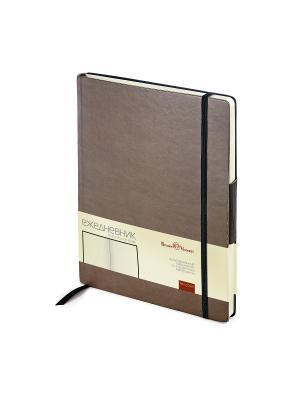 Ежедневник b5  на резинке zenitн (коричневый) Bruno Visconti. Цвет: коричневый