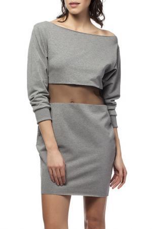 Платье BE WEAR. Цвет: серый