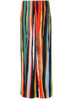 Полосатые плиссированные брюки Solace London. Цвет: многоцветный