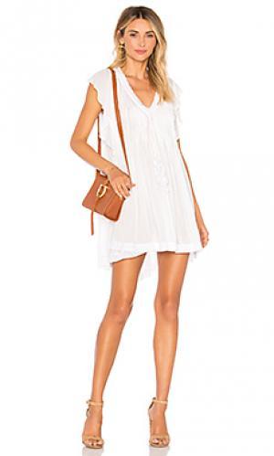 Платье mila Poupette St Barth. Цвет: белый