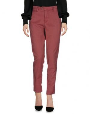 Повседневные брюки OAKS. Цвет: красный