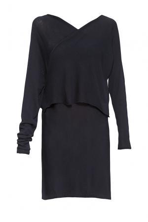 Трикотажное платье 144425 Firkant. Цвет: синий