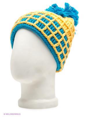 Шапка R.Mountain. Цвет: желтый, голубой
