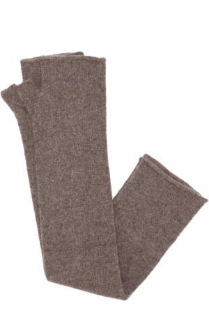 Кашемировые митенки Tegin. Цвет: коричневый