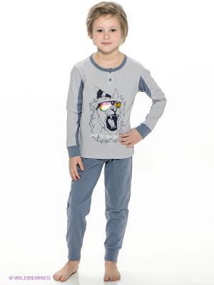 Пижама Vis-a-vis. Цвет: серо-голубой