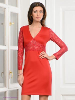 Платье Festival. Цвет: красный