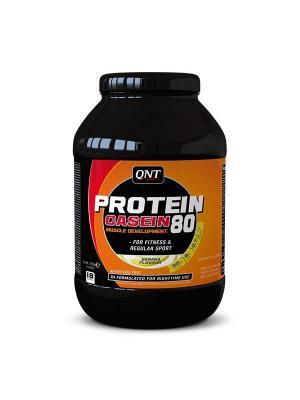 Протеин PRO 80 (банан), 750 г QNT. Цвет: черный, оранжевый, белый