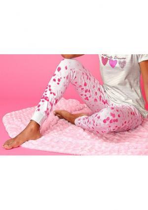 Пижамные брюки VIVANCE. Цвет: воздушные шарики, розовый надписи