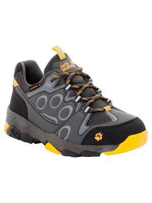 Ботинки MTN ATTACK 2 TEXAPORE LOW K Jack Wolfskin. Цвет: темно-серый