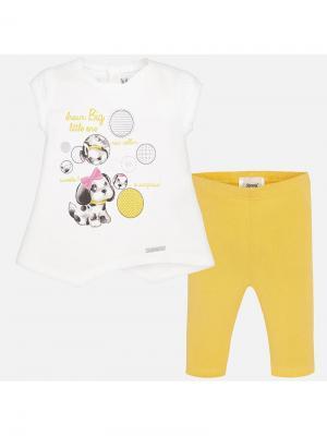 Комплект одежды Mayoral. Цвет: желтый