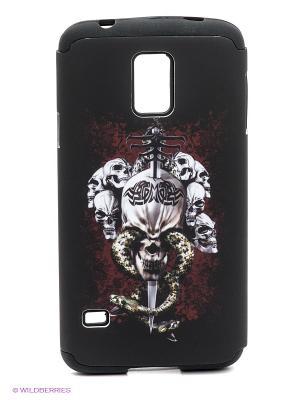 Чехол для Samsung S5 WB. Цвет: темно-коричневый, темно-красный, белый
