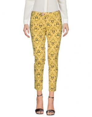 Повседневные брюки BARONIO. Цвет: желтый